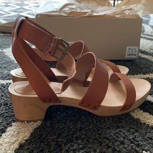 Madewell Leather Clog Sandals NEVER WORN